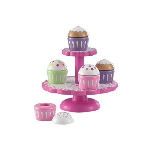 KidKraft 6 Piece Cupcake Stand Set, Play Kitchen Set