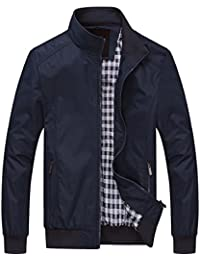 Mens Casual Jacket Outdoor Windbreaker Lightweight Outerwear Jackets and Coats