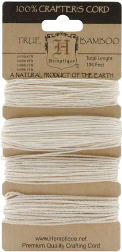 - Hemptique Bamboo Cord, 104-Feet, Natural