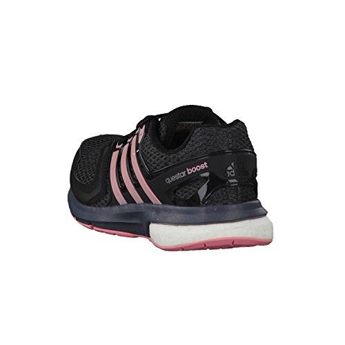 adidas Questar Boost W - Zapatillas para mujer, color negro / rosa / gris, talla 44 2/3