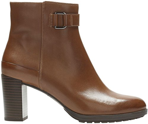 London Lights Womens Boot Clarks Tan Leather 5qESTTv