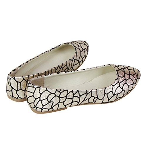 Dear Time Women Slip On Ballet Flats Gold s9RZqN6SB