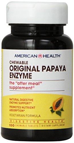 Original Papaya 100 Tabs (American Health Papaya Enzyme, Original Chewable 100 Tabs by American)