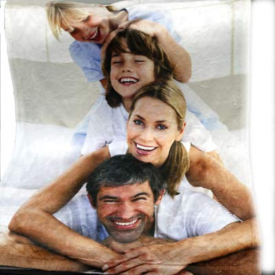 Personalized Products Custom Photo Blanket with Your own Photo. Plush Fleece Blanket