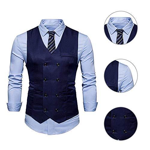 Classique Vest Mariage Slim Leisure 1 Baomwool Business Pour Grau Gilets Boys Moderne Hommes Fit Tuxedo De Costume T7Innq8