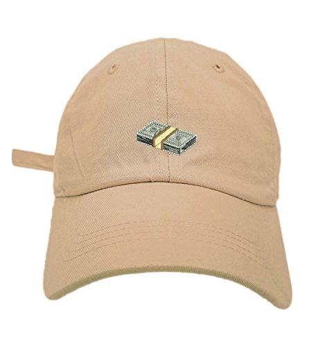 TheMonsta Money Style Dad Hat Washed Cotton Polo Baseball Cap (Khaki)