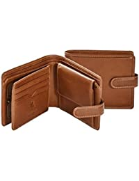 Stefano VICENZA VCN-21 LEATHER Bifold ID Wallet Coin Purse
