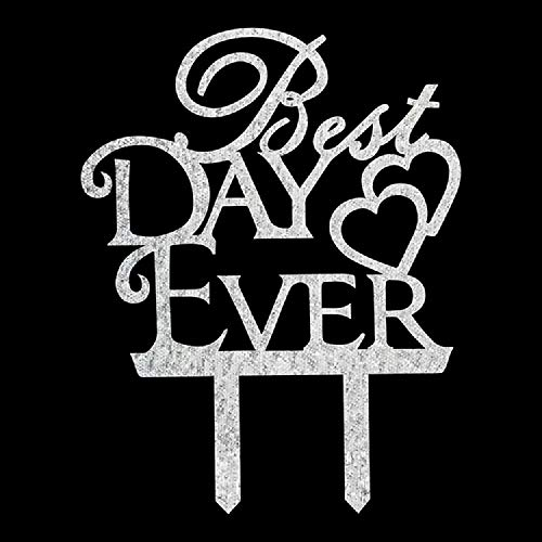 Best Day Ever Cake Topper Engagement Wedding