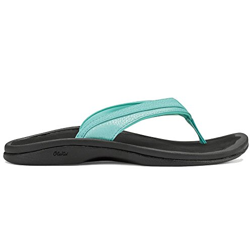 OLUKAI Women's Ohana Sandal, Sea Glass/Black, 7 M US, used for sale  Delivered anywhere in USA