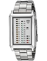 DETOMASO Men's G-30723A SPACY TIMELINE 1 Binary  Trend weiss/silber Digital Display Quartz White Watch