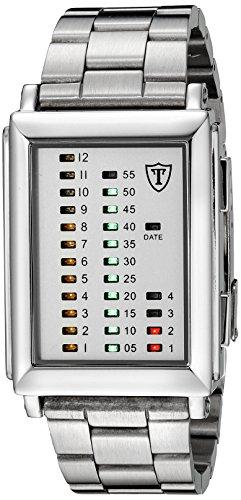 DETOMASO Men's G-30723A SPACY TIMELINE 1 Binary  Trend weiss/silber Digital Display Quartz White - Timeline Trend Fashion