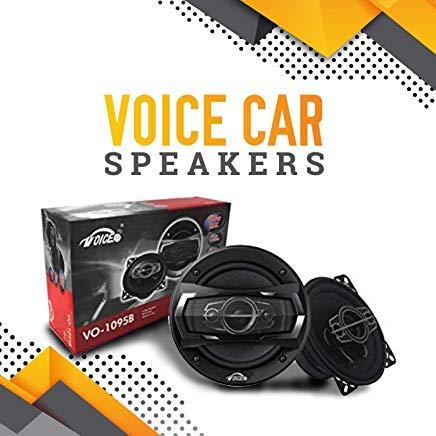 Voice Car Speakers 4x2 Inch (Pair) Coaxial 4 Way, 200 Watt Tweeter 40MM, 4Ω, Woofer 100MM VO-1095B ()