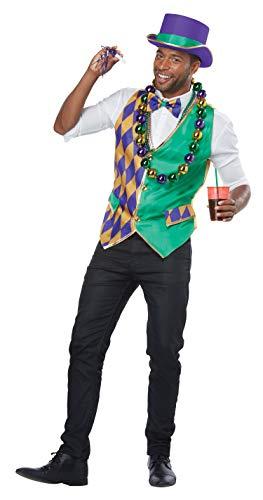 (California Costumes Men's Mardi Gras Vest Kit-Adult Man, Multi)