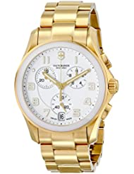 Victorinox Unisex 241537 Chrono Classic Analog Display Swiss Quartz Gold Watch