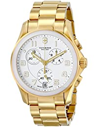 Unisex 241537 Chrono Classic Analog Display Swiss Quartz Gold Watch