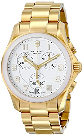 Victorinox Unisex 241537 Chrono Classic Analog Display Swiss Quartz Gold Watch - Chrono Classic Ladies Watch