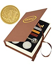 SAMYO Stamp Seal Sealing Wax Vintage Classic Old-Fashioned Antique Alphabet Initial Letter Set Brass Color Creative Romantic Stamp Maker