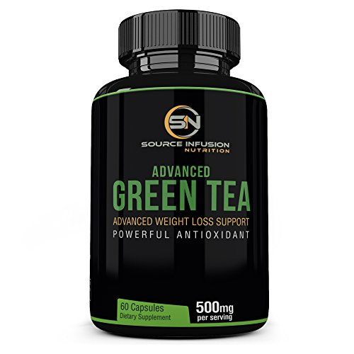 Green Tea Extract with egcg supplement for Effective Weight Loss - 500mg of extract capsules to Boost Metabolism - Fat Burner Caffeine for Energy - Antioxidant & Free Radical Scavenger - GMP Certified (Reviews On Mega Green Tea Fat Burner)
