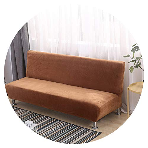 Thick Plush Spandex Sofa Bed Cover All-Inclusive Slipcover Without Armrest Folding Sofa Cover Couch Cover Patio Furniture 2Sizes,Color 13,S 160-195cm (Me Furniture Repair Near Patio)