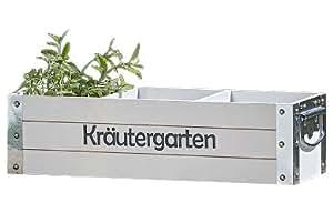Cajita Macetero para Plantas Aromáticas Deco Jardín L 47 cm MDF Madera