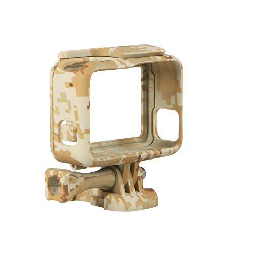Shentesel Action Camera Protective Side Border Frame Housing Case Cover for GoPro Hero 5 - Brown
