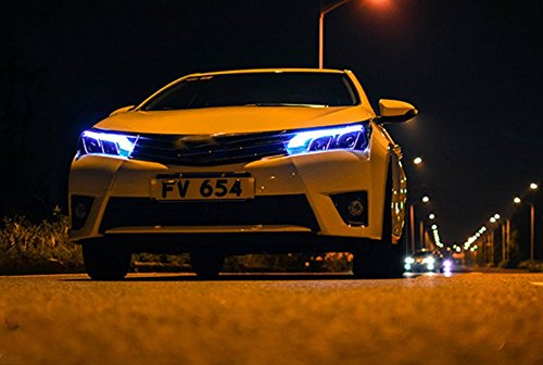 GOWE Car Styling for Toyota Corolla Headlights 2014-2016 Altis LED Headlight DRL Bi Xenon Lens High Low Beam Parking Fog Lamp Color Temperature:8000k;Wattage:55w 3
