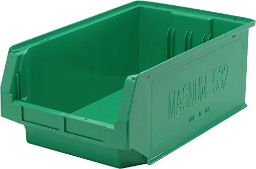 Quantum Storage Systems QMS532GN Heavy Duty Magnum Bin, 19-3/4 x 12-3/8 x 7-7/8, Green (Case of 6) (Heavy Bin Duty Hopper)