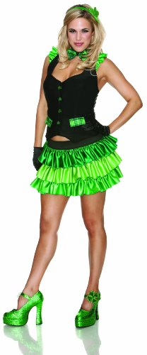 Adult Lucky Charm Costumes (Delicious St. Patty's Girl Lucky Charm Costume, Green, X-Small)