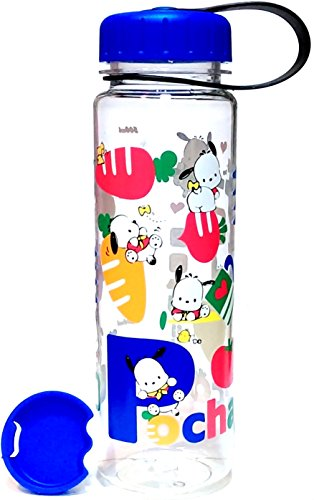 Pochacco Tritan BPA Free Water Bottle with Removable Inner Adapter 19 Ounce