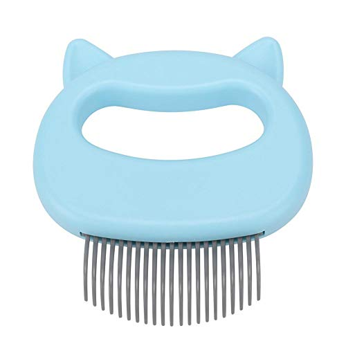 DEWIN Pet Cat Dog Shell Comb, Grooming Hair Removal Shedding Cepillo de Limpieza para Gatos pequeños y medianos(Azul)