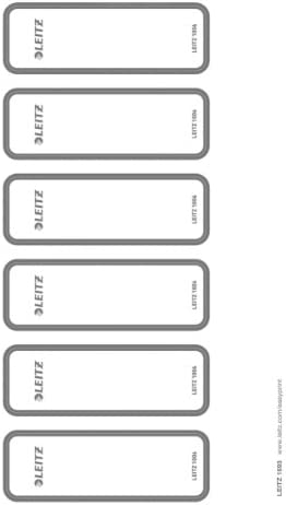 60 pezzi Leitz 16930085 strette colore: Grigio Etichette autoadesive per dorso di raccoglitori scrivibili con computer