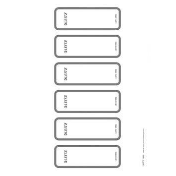 Leitz 16930085 - Etiquetas para lomo de carpeta WOW (adhesivas, se pueden imprimir, 60 unidades), color gris: Amazon.es: Oficina y papelería