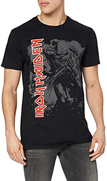 Iron Maiden Hi Contrast Trooper Camiseta Manga Corta para Hombre