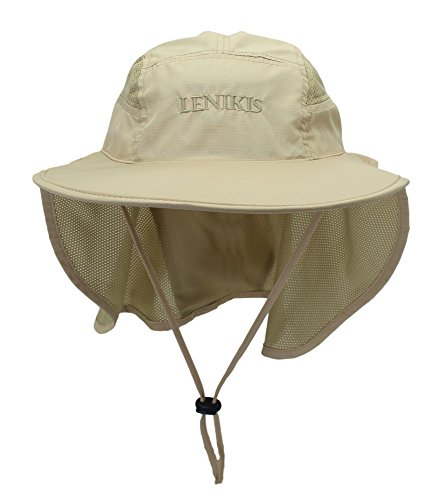 Lenikis Unisex Outdoor Activities UV Protecting Sun Hats With Neck Flap - Size Hat 22