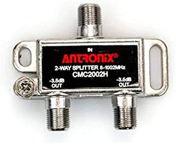 4 Horizontal Splitter -7db Ports 5-1002 MHz High Performance Profession Quality for Coax Cable TV /& Internet Factory Sealed with Screws Antronix CMC2004H 4-Way- Pack 5