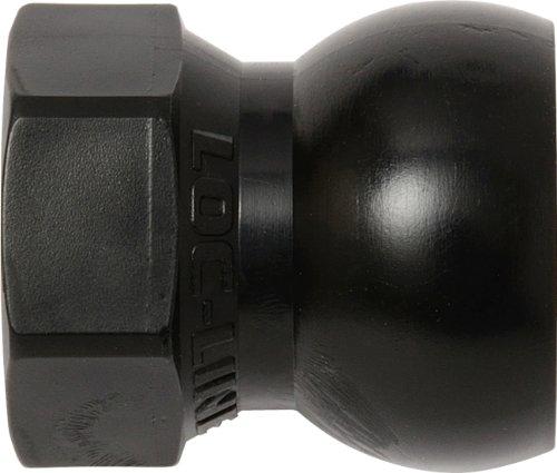 "Loc-Line Coolant Hose Component, Black Acetal Copolymer, 3/8"" SAE Flare Nut Adapter, 1/2"" Hose ID (Pack of 20)"