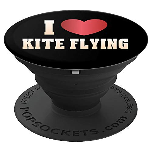 I Love Kite Flying Sport Fan Lovers Gift Pop Socket - PopSockets Grip and Stand for Phones and Tablets