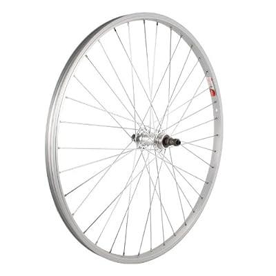 Sta-Tru Silver Alloy ATB 6-7 Speed Freewheel Hub Quick Release Rear Wheel (26X1.5-Inch)