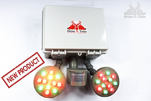Feeder Light! Harvest-Time Motion Activated, Amber Glowing Light for Night Hog Hunting - Solar Powered - Hunter Package ()