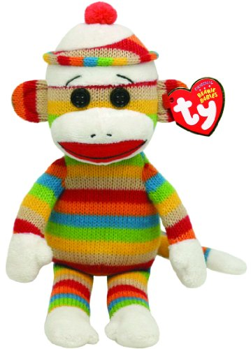 Ty Beanie Babies Socks Monkey (Stripes) -