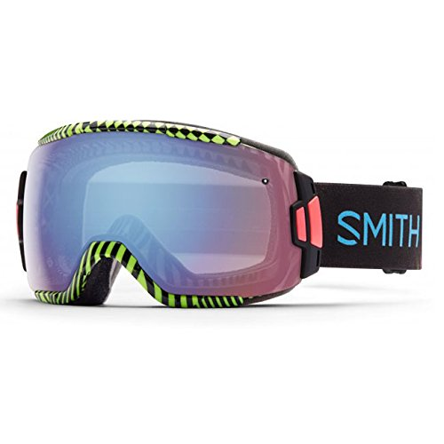 Smith Optics Vice Adult Spherical Series Snow Snowmobile Goggles Eyewear - Neon Blacklight /Blue Sensor Mirror / - 2016 Smith Vice Goggles