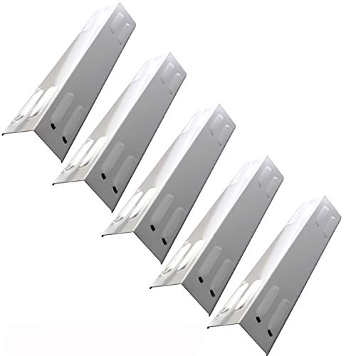- Hisencn (5-Pack Repair Parts Stainless Steel Heat Plate, Heat Tent, Burner Cover, Heat Shield 105-13003 Replacement for Dyna-Glow 5 Burner DGE 530/486 Series DGB390SNP-D, DGB390GNP-D Gas Grill Models