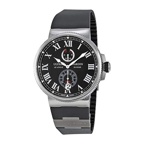 Ulysse Nardin Marine Chronometer Automatic Black Dial Stainless Steel Titanium Mens Watch 1183-122-3-42-V2