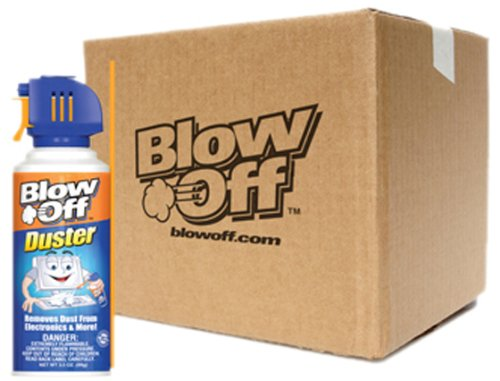 Blow Off (MB-111-229-12PK) Air Duster - 3.5 oz., (Pack of 12) by Blow Off