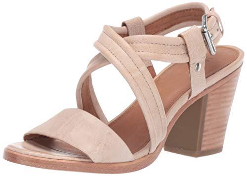 FRYE Women's DANI Criss Cross Flat Sandal Cream 7.5 M US
