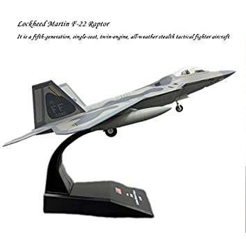 5c47118e98d0b AMER 1/100 Scale Airplane Model Toys USA F-22 F22 Raptor Fighter ...