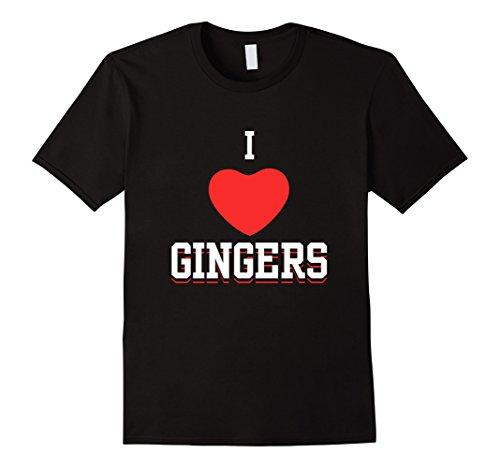 (I Love Gingers Heart Redheads Hair Freckles Shirt Jokes)
