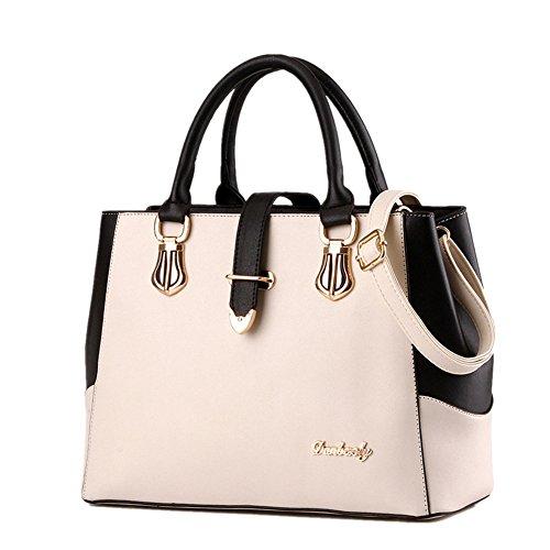 fanhappygo Fashion Retro Leder Damen elegant Diagonale Bonbonfarben Umschlag Schulterbeutel Umhängetaschen Weiß