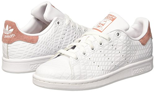 best sneakers 2ba91 0758d De raw footwear White W Adidas Pink footwear Smith Para Deporte Mujer  Zapatillas Blanco Stan White OnIaxZ4