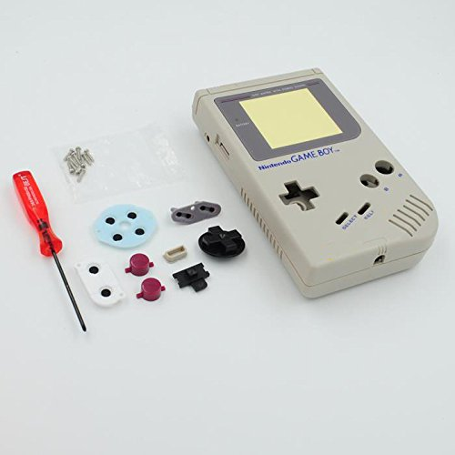 Full Replacement Shell - New Full Housing Shell Case Cover for Nintendo Gameboy Classic 1989 GB DMG Console Gray